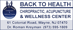 Roman Kreyman - Back to Health - Health Chiropractic,  Acupuncture and Wellness Center - Wayne - (973) 595-1809 - Wayne Chiropractor