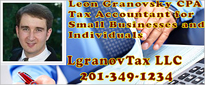 Leon Granovsky - LGranovTax LLC - Accountant - Accounting - Income Tax - CPA - Tax - Fair Lawn - NJ - 201-349-1234